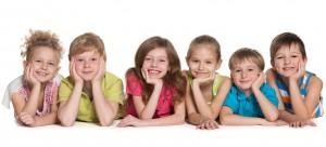 Six happy children